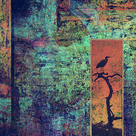Abstract Bird in the Window by Sandra Selle Rodriguez