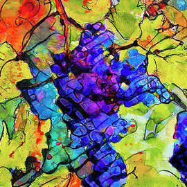 Abstract Blue Grapes by Ginette Callaway