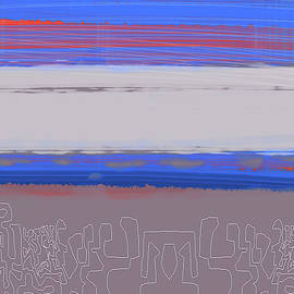 Abstract  Blue View 1 by Naxart Studio