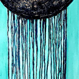 Abstract Drip Painting-5 by Anand Swaroop Manchiraju