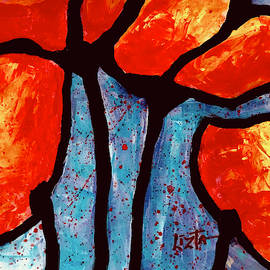 Abstract Flaming Poppies by LizTa Gallery