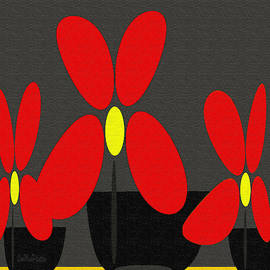 Abstract Floral Art 393 by Miss Pet Sitter