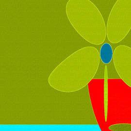 Abstract Floral Art  456 by Miss Pet Sitter