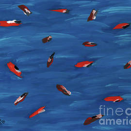 Abstract Koi Pond by D Hackett