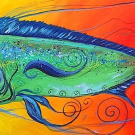 Abstract Mahi Mahi, 8 by J Vincent Scarpace