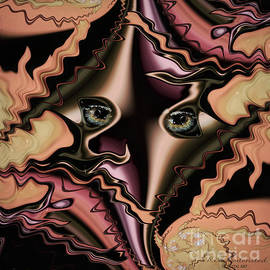 Abstract portrait - fractalistic Cubism by Kira Bodensted