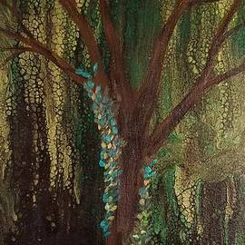 Abstract Summer Tree by Crystal Elswick
