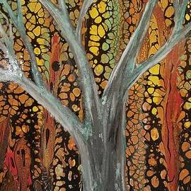 Abstract Tree in Fall by Crystal Elswick