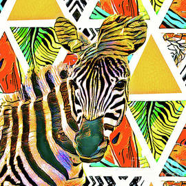 Abstract Zebra by Tina LeCour