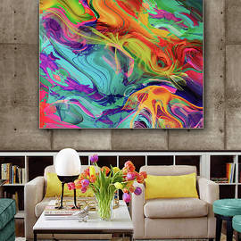 Abstraction- Space--Artwork in Situ by Grace Iradian