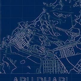 Abu Dhabi Blueprint City Map by Helge