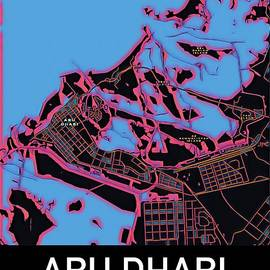 Abu Dhabi City Map by Helge