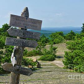 Acadia Trail Sign by Dale Kohler