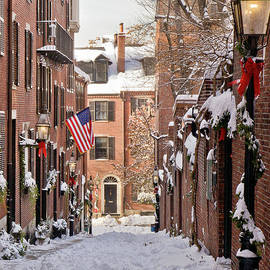Acorn Street Snowfall by Susan Cole Kelly