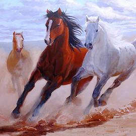 Adventurous Horses by Arttantra