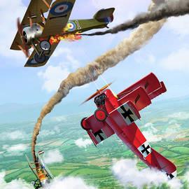 Aerial Duel by Thomas La Padula