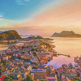 Aksta Viewpoint, Alesund Norway by Dean Wittle