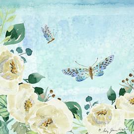 Alabaster Rose Garden In Blue 1 by Audrey Jeanne Roberts