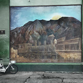 Albuquerque Mural and Cyclist by Yuri Lev