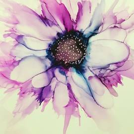 Alcohol Ink Flower Painting by Femina Photo Art By Maggie