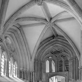 Alcove, Wells Cathedral by Jerry Griffin