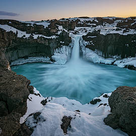 Aldeyjarfoss Waterfall Iceland II by Joan Carroll