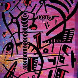 Alien Cave Art by Yulia Kazansky