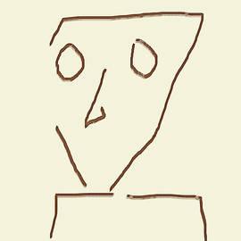Alien Face Line Art 04 by Prakash Ghai