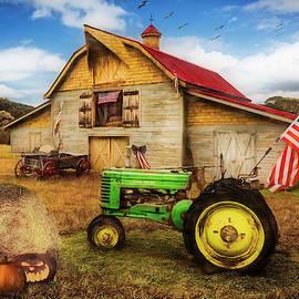 All American Farm in Autumn by Debra and Dave Vanderlaan