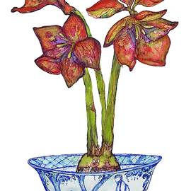 Amaryllis In Chinoiserie by Kimberly Potts