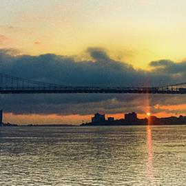Ambassador Bridge Sunrise Detroit, MI by Kevin Coil