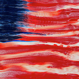 American Flag Abstraction by Darice Machel McGuire