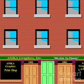 Amka Graphics Studio And Cafe by Walter Neal