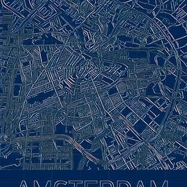 Amsterdam Blueprint City Map by Helge