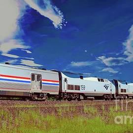Amtrak heading east by Jeff Swan