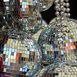 An Assortment of Reflective Tile Ball Ornaments by Derrick Neill