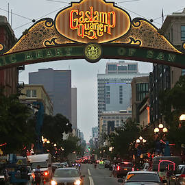 An Entrance to the Gaslamp Quarter of San Diego, CA, USA by Derrick Neill