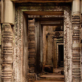 Ancient Doors at Preah Khan Temple by Bob Phillips