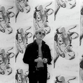 Andy Warhol And Cows by Fred W. McDarrah