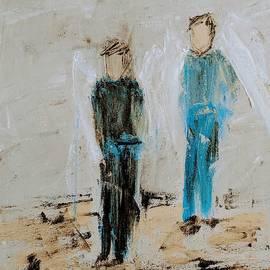 Angel Boys on a dirt road by Jennifer Nease
