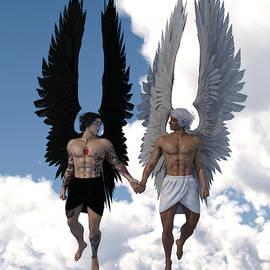 Angel Couple 1 by Barroa Artworks