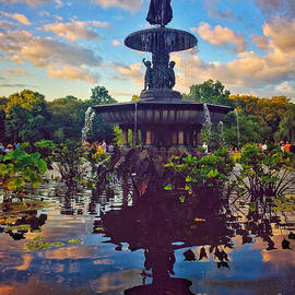 Angel of the Waters - Bethesda Fountain - Central Park New York by Miriam Danar