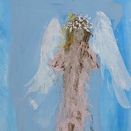 Angel with a crown of daisies by Jennifer Nease
