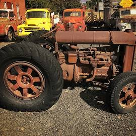 Antique Fordson Tractor  by Jerry Abbott