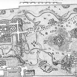 Antique Map Of The Parc De Monceau, Paris by French School