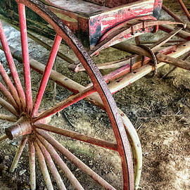 Antique Red Wagon #0610 by Susan Yerry