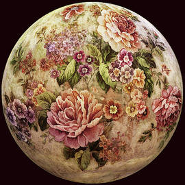 Antique Roses Globe by Grace Iradian
