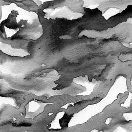 Apodictic - Abstract Black and White by Susan Porter