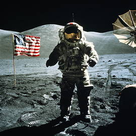 Apollo 17 Astronaut On Moon, Beside Us by World Perspectives