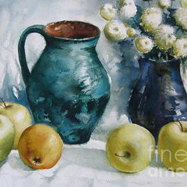 Apples and ceramic pots by Elena Oleniuc
